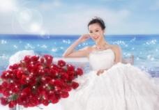 海角玫瑰 婚纱样片图片