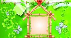 绿色小屋相册模板图片