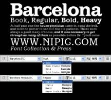 BarcelonaITC系列字体下载
