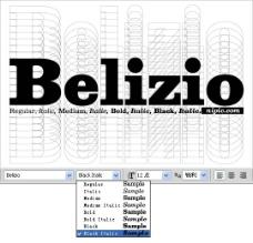 Belizio系列字体下载