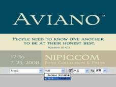 Aviano系列字体下载