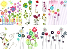 可爱梦幻花纹花朵图片