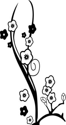 手绘梅花图片