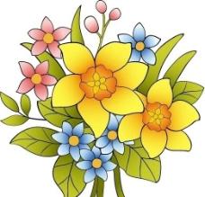 矢量花束图片