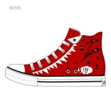 帆布鞋设计图片
