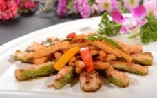 煎酿四季豆炒鸡腿菇图片