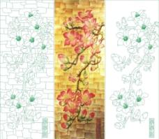 艺术玻璃矢量图图片