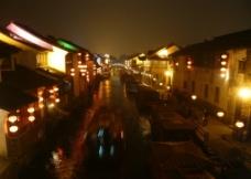 苏州七里山塘夜景图片