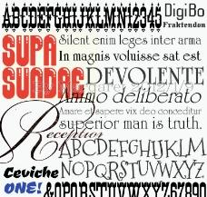 時尚現代設計字體21個