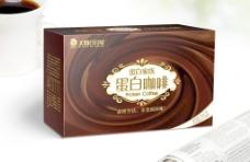 蛋白咖啡包装ai平面图图片