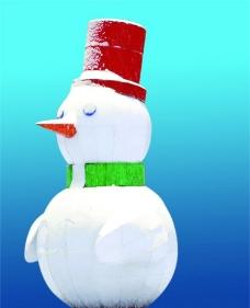 大雪人图片