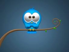 蓝色小鸟图片