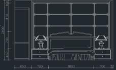 家装主卧CAD立面图图片