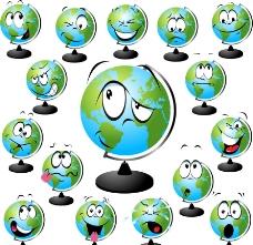 地球仪表情图片