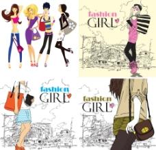 都市休闲时尚女孩图片