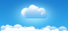 蓝天白云图标图片